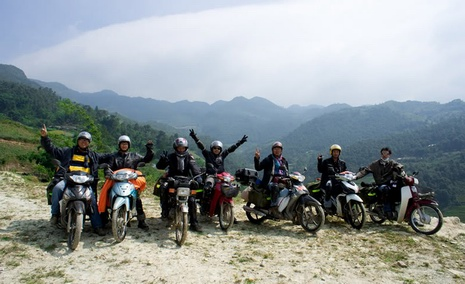 northeast Vietnam motorbiking